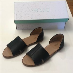 Nordstrom Abound Leni leather open toe flat
